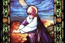 Jesus stained glass for the St. Joseph Parish in South Lyon, Michigan
