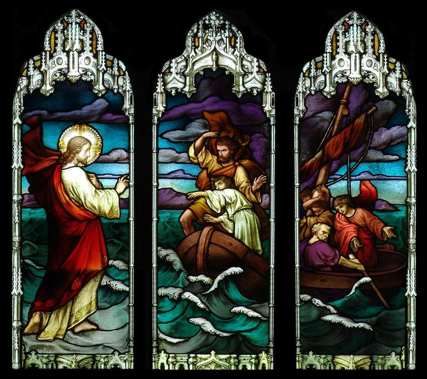 New Hampshire church stained glass windows.