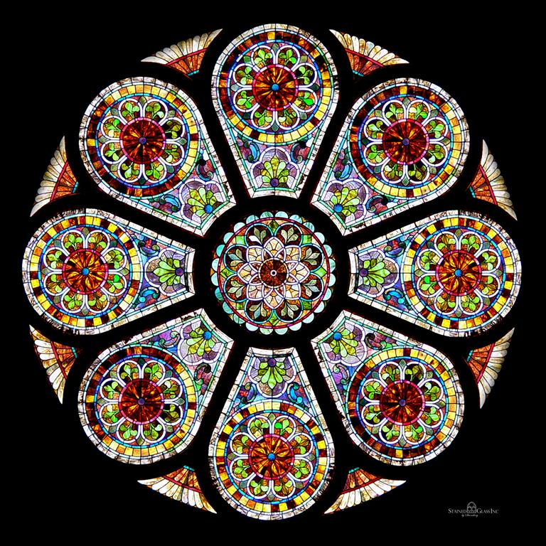 Rose Window By Stained Glass Inc